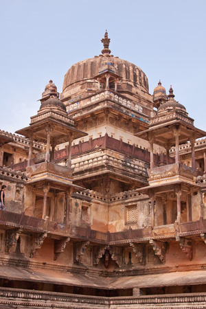 rajput: Part of 16th century Jehangir complex at Orchha, India, ancient capital of the Rajput kingdom