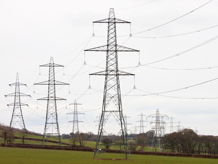 superstructure: Electricity pylons snaking across the UK countryside