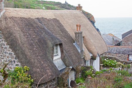 Traditional cottages in an ancient Cornish village