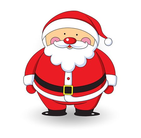 white bacjground: Santa claus on white background Illustration