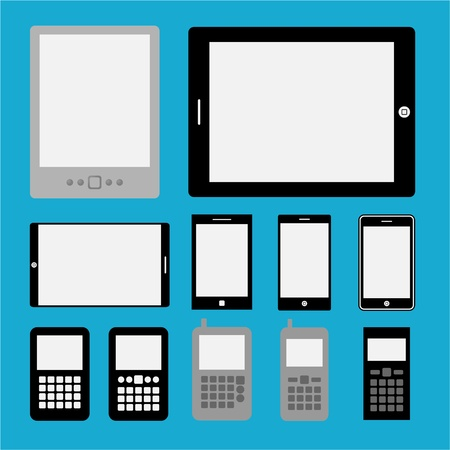 Set of mobile phones and tablets ,Illustration eps 10 Vector