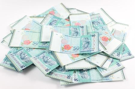 payout: malaysian moneda - RM50 aislado sobre fondo blanco