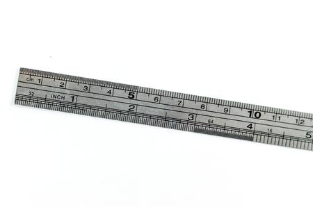 metric: Metric steel ruler, isolated on white.