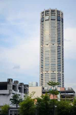 Komtar penang, malaysia. most famous building in penand. Editorial