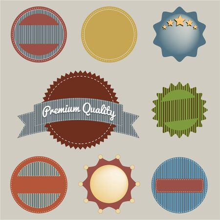 Set of retro vintage badges and labels  vector Vector