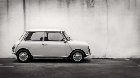 Old vintage, Classic Mini taken at Penang, Malaysia  photo