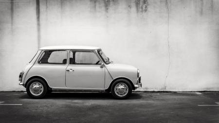 cooper: Old vintage, Classic Mini taken at Penang, Malaysia