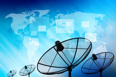 wireless technology: Satellite dish transmission data