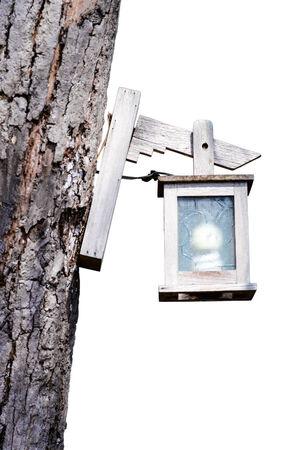lamp post: Bella lampione. Isolato su sfondo bianco