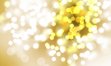 Golden Festive Christmas background  Abstract twinkled bright background with bokeh defocused blur lights photo