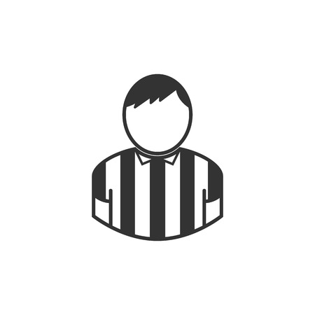 Football   soccer referee man in illustration  Illustration