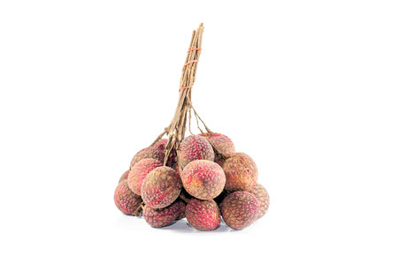 litschi: fresh lychees isolated on white