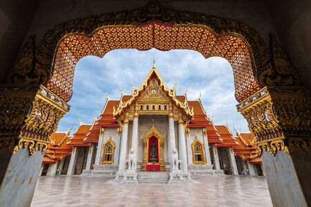 The Marble Temple, Wat Benchamabopitr Dusitvanaram Bangkok THAILAND, Beautiful Thai Temple photo