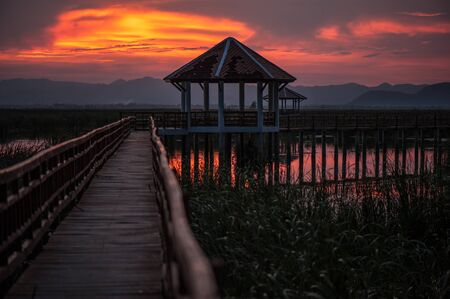 Beautiful Sunset at Sam Roi Yod National Park, Thailand. photo