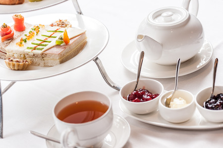 Traditional English afternoon tea Stock Photo