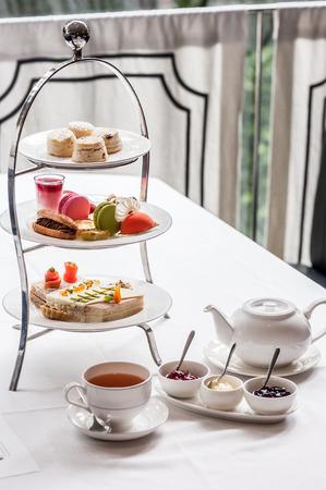 Traditioneel Engels afternoon tea Stockfoto
