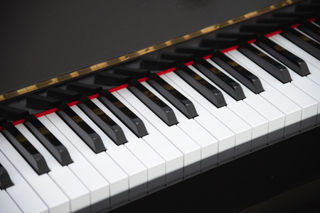 close-up of piano keys. close top view. Stock Photo