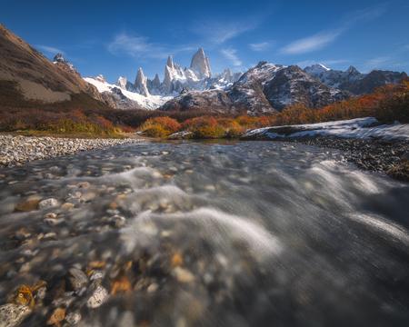 Monte Fitz Roy at Parque Nacional Los Glaciares, El Chalten, Argentina.