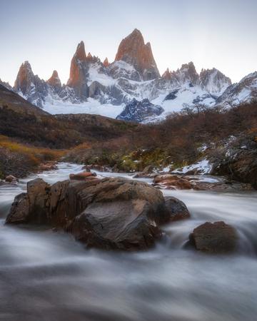 Waterfall at Patagonia National park, Argentina Stock Photo