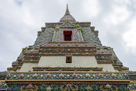 Deatail of the Pagoda at Wat Pho - the Temple in Bangkok