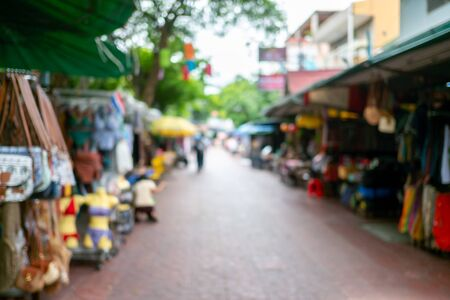 blur focus background at khaosan road, Bangkok, Thailand Stock Photo