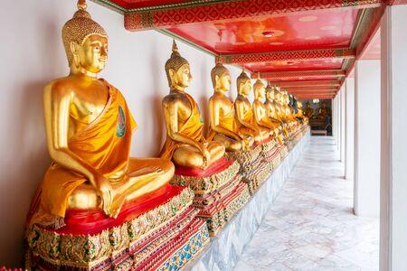 Nice Gold Buddha Statue at Wat Pho temple, bangkok, Thailand