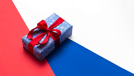 Gift boxes in national colors