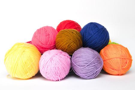 gomitoli di lana: Lana colorata filati palle Archivio Fotografico