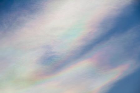 iridescent: Beautiful iridescent cloud, Irisation