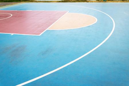 Basketball court on outdoor basketball field