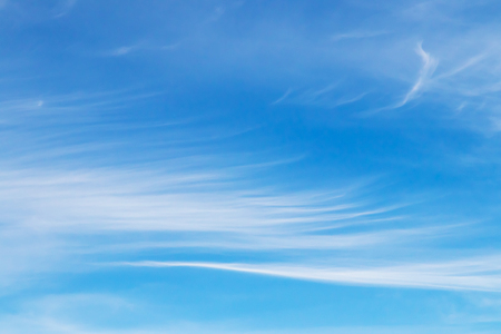 White fluffy and blue sky with clouds (Cirrus clouds)