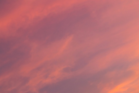 Dramatic sunrise sky shades of the red, natural background. Banco de Imagens
