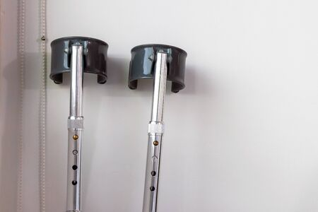 Elbow crutches for help when you have an orthopedic injury and giving it time to heal.