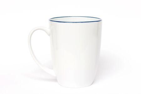 White ceramic mug isolated on white background Banque d'images