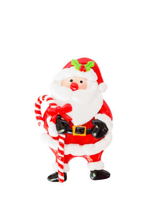 Santa claus figurine isolated on a white background.