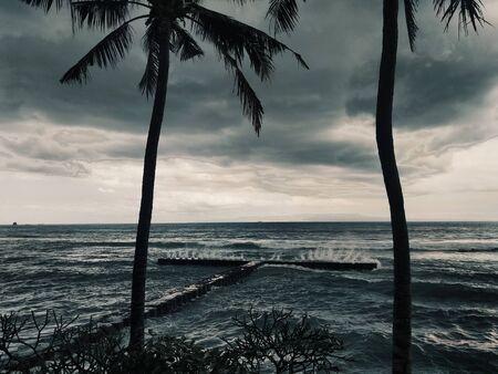 Stormy Bay with Raging Waves Reklamní fotografie