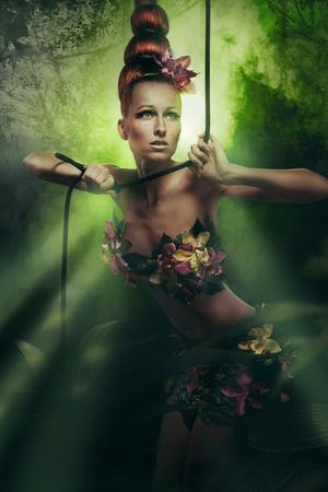studio photo of girl with amazon style