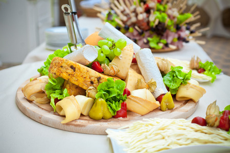 Catering food decorated on table photo