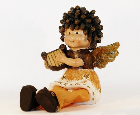 angelical: Angel playing lyre