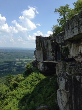 overlook: Side view of overlook