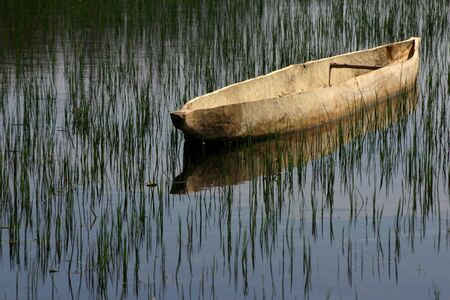 A mokoro on the water