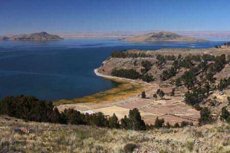 Titicaca lake landscape