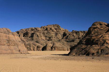 desierto del sahara: Hoggar Tassili, desierto del Sahara, al sur de Argelia  Foto de archivo