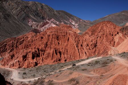 Red Mountains,in the north west of argentina Stock Photo