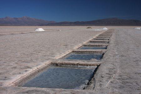 salar: Salt exploitation on salar of Salinas Grandes