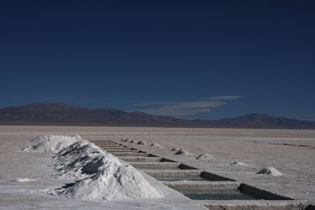 exploitation: Salt exploitation on salar of Salinas Grandes