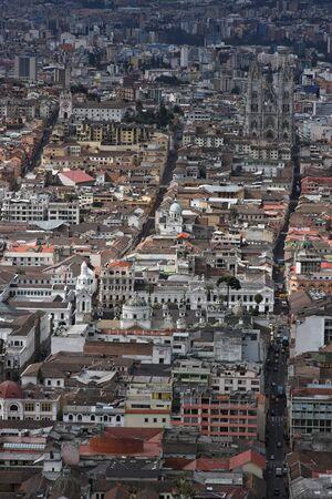 quito: Aerial view of Quito