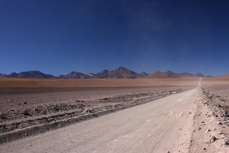 A road across the desert of Atacama