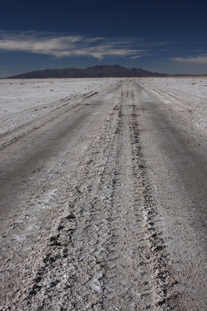 lipez: Road on salar de Chiguana in Sud Lipez Altiplano