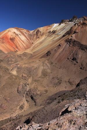 lipez: Tunupa volcano crater in Sud Lipez, Bolivia